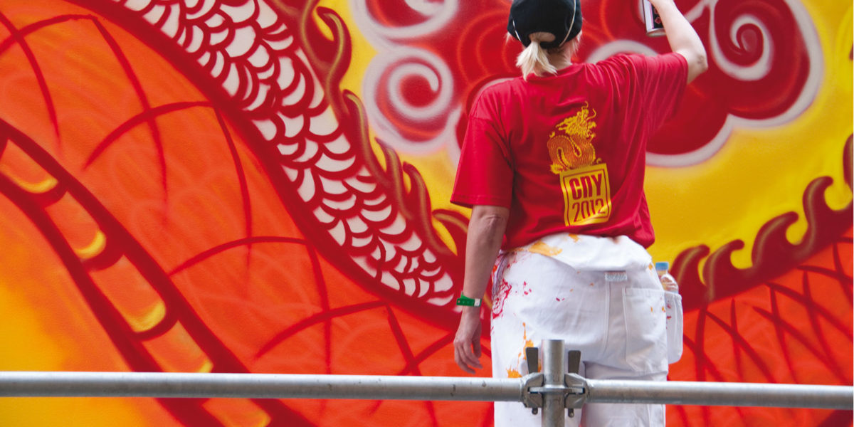 Painting the Year of the Dragon by Richard Potts