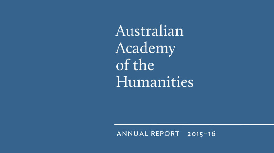 AAH Annual Report 2015-16 - cover graphic